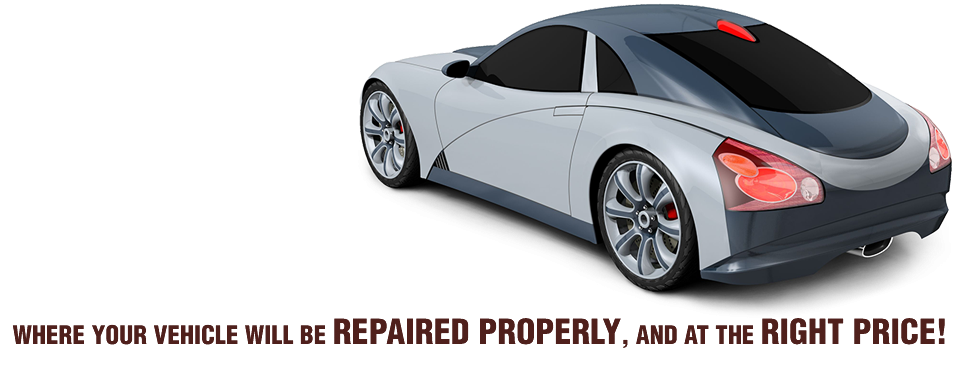 WHERE YOUR VEHICLE WILL BE REPAIRED PROPERLY, AND AT THE RIGHT PRICE | silver sports car